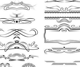 Ornament Borders Elements 4 vector