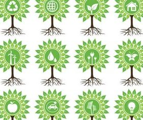 Ecology Creative Symbols vectors graphic