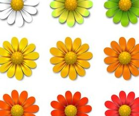 Shiny Color Flowers vector