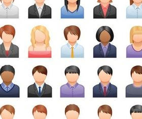 Various People Icons vector material