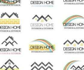 Real Estate Logotypes 5 set vector