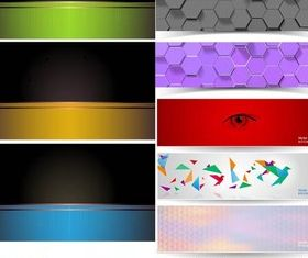 Colorful Different Banners vector set