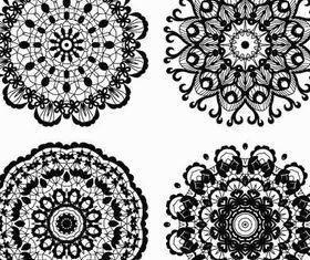 Circle Ornate Elements 5 vectors graphics