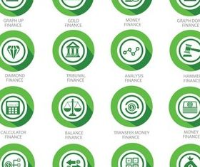 Green Finance Icons vector