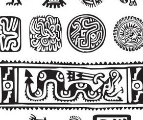 Aztec Elements vectors graphic
