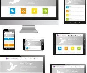 Modern Gadgets free vector