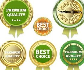 Gold Guarantee Badges art vector