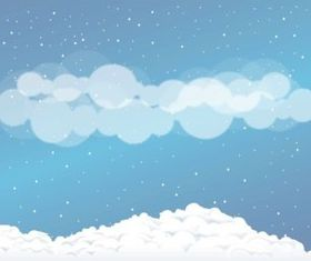 Snow Clouds background vectors material