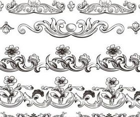 Stylish Ornamental Borders 19 set vector