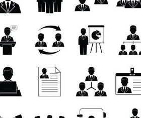 Business People Icons 8 vector