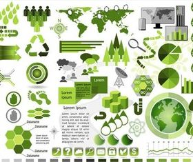 Ecology Green Infographics art vectors graphics