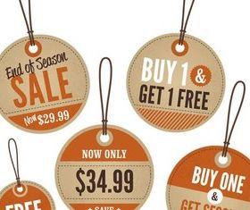 Retro Style Sale Stickers design vector