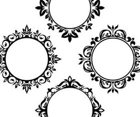 Stylish Vintage Frames 15 vector