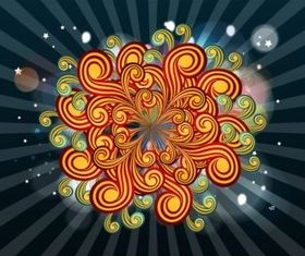 Decorative Swirls Illustration vector