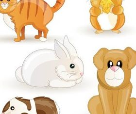 Cute Funny Animals art vector