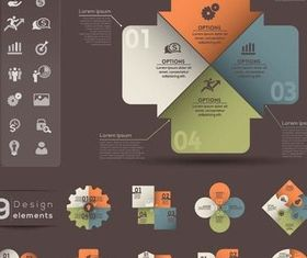 Different Infographics vector