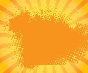 Orange Grungy Sunburst vector