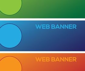 Three Colorful Banner vector