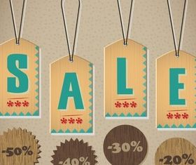 Sale Tags vector graphics