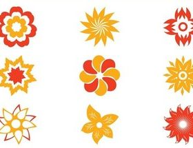 Stylized Flower Blossoms art vector