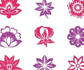 Blooming Flowers Graphics art vector