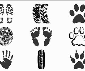 Prints And Traces vector graphic