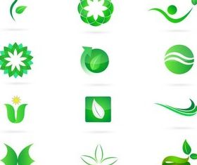 Green Nature Bright Symbols art vector graphics
