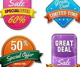 Shiny Sale Stickers free shiny vector