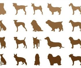 Dog Breeds Silhouettes art vector