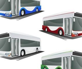 Color Different Buses art vectors
