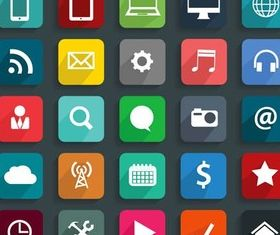 Different Flat Icons 12 vector