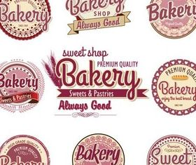 Bakery Vintage Labels art vector