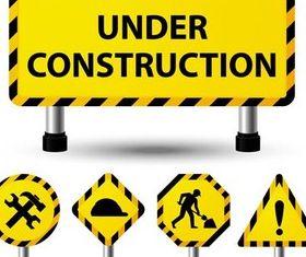 Constrution Symbols vector