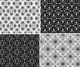 Stylish Damask Patterns 9 vector