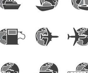 Transportation Icons art vectors graphics