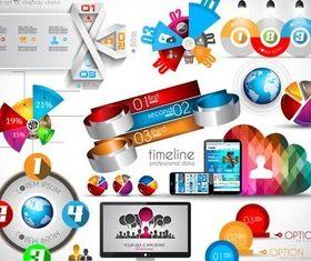 3D Infographics Elements 2 vector