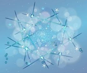Stars Background vector material