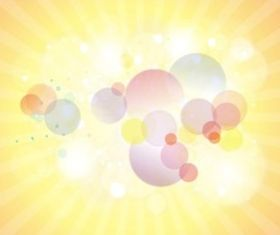 Bubbles And Rays vector graphics