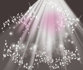 Lights And Flowers vector graphics