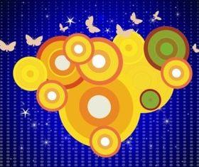 Circles Layout vector