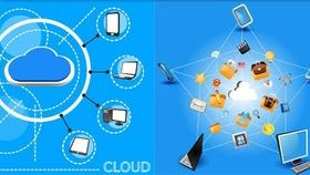 Computing Clouds free vector