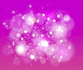 Stars And Bokeh background vector