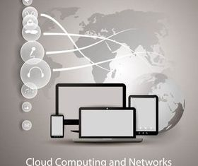 Computing Clouds art vector design