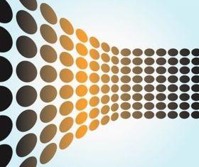 Gradient Dots background vector