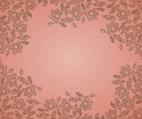 Outline Flowers background vector