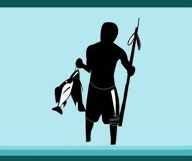 Fishing Man design vector