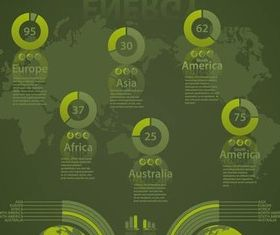 Infographics Eco Elements art design vectors