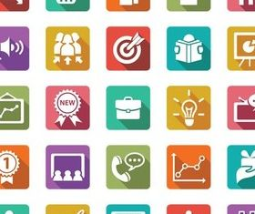 Different Flat Icons 11 creative vector