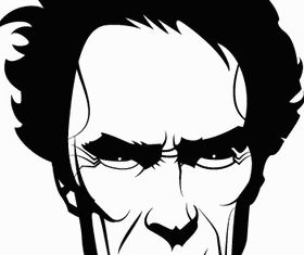 Clint Eastwood Portrait Image creative vector