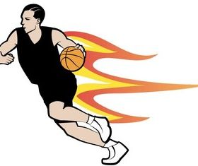 Basketball Player Art vector